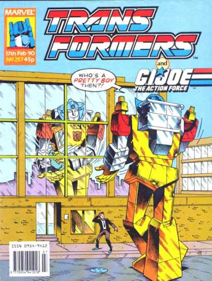 Transformers (UK) 257 - Robot - Buildings - Sky - Window - Man