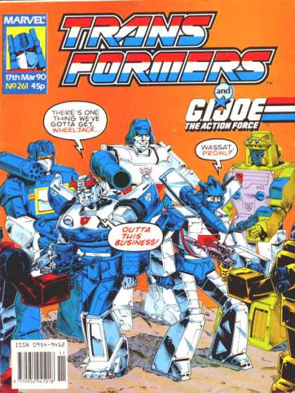 Transformers (UK) 261 - Marvel - Speech Bubble - Gi Joe - March 17 1990 - Weapons