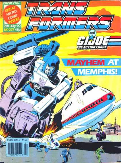 Transformers (UK) 277 - Decepticon - Airport - Airplane - Destroys - Fleeing