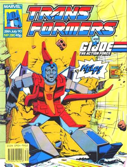 Transformers (UK) 280 - Autobots - Scared - Help - Bricks - Hurt