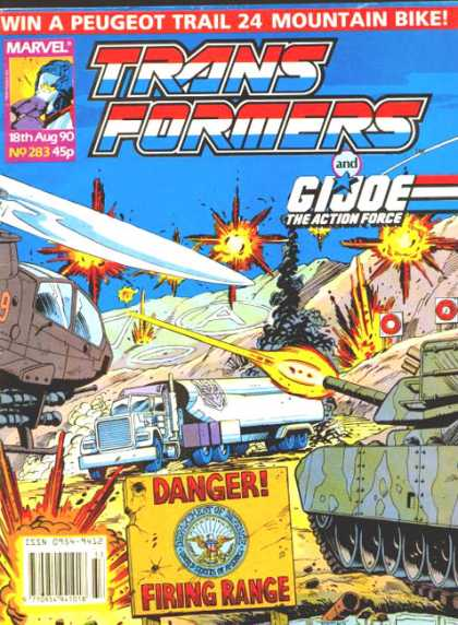 Transformers (UK) 283 - Tank - Lorry - Truck - Explosions - Snow