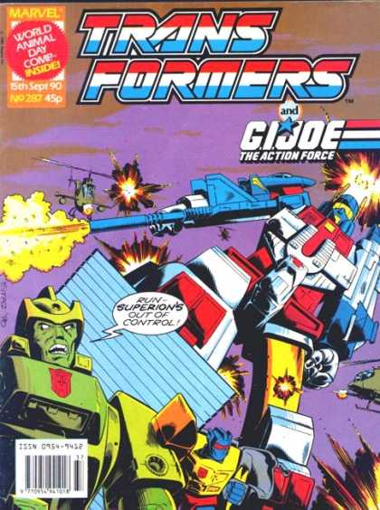 Transformers (UK) 287 - Robot Madness - Maximum Destruction - Explosive - Large And In Charge - Take No Prisoners
