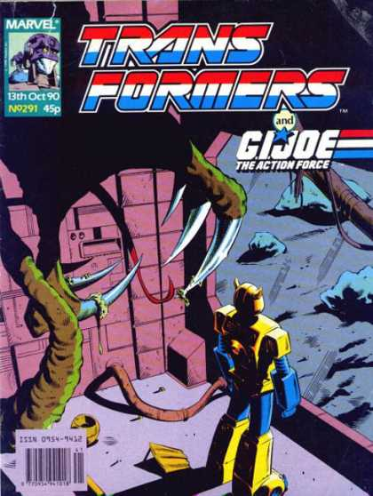 Transformers (UK) 291 - Marvel - The Action Force - Gi Joe - October - No 291