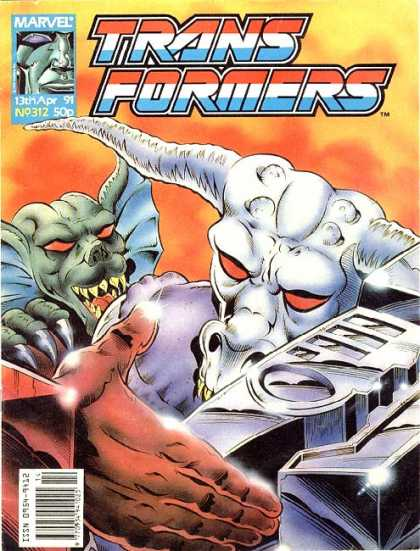 Transformers (UK) 312 - Marvel - 13 Th Apr 91 - No 312 - 50p - Sharp Nails