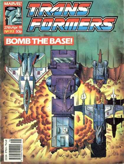Transformers (UK) 313 - Marvel - Bomb - Explosion - Spaceships - European