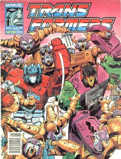 Transformers (UK) 318 - Trains - Formers - Marvel - July - Comic
