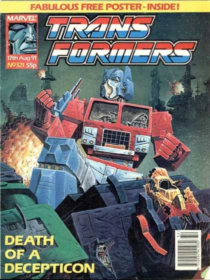 Transformers (UK) 321 - Transformers - Death Of A Decepticon - My Chest Is A Truck - Recycled - The Crusher