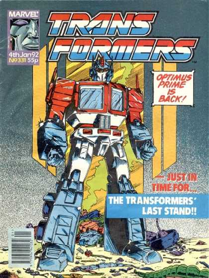 Transformers (UK) 331 - Optimus Prime - Autobots - Robot - Robots In Disguise - Last Stand