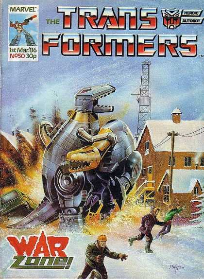 Transformers (UK) 50 - Revenge Of The Dinosaurs - Distruction In Town - Mechanical Doom - Run For Your Life - Dooms Day Returns