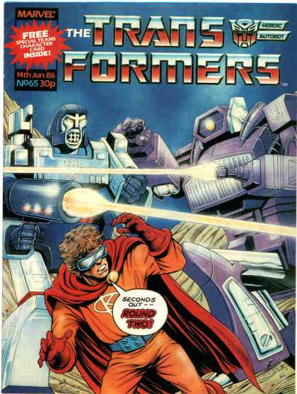 Transformers (UK) 65 - Marvel - Round Two - Superhero - Robotic - Laser Fire