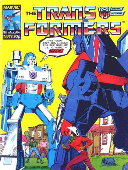 Transformers (UK) 73 - Building - Marvel - 9th Aug 86 - Grass