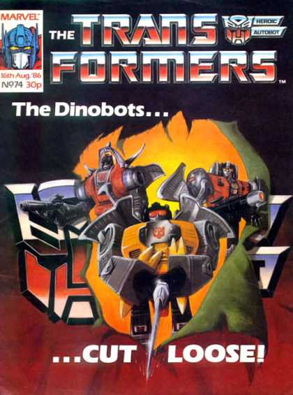 Transformers (UK) 74 - Marvel - Dinobots - Robots - Cut Loose - August 1986