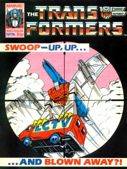 Transformers (UK) 76 - Up Up And Blown Away - Swoop - Robots In Disguise - Heroic Autobot - Sky