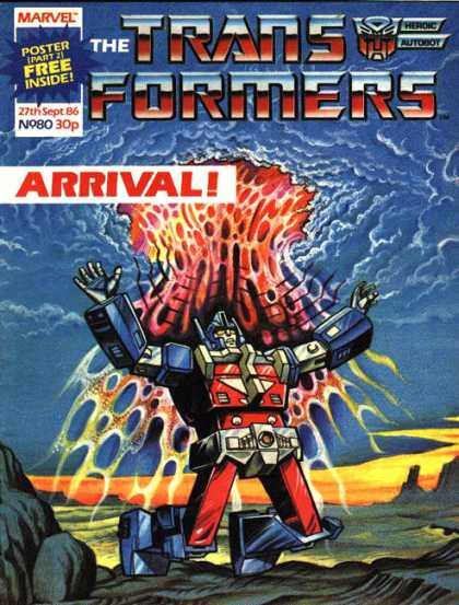 Transformers (UK) 80 - The Trans Formers - Arrival - 27th Sept 86 - Lava - Rocks