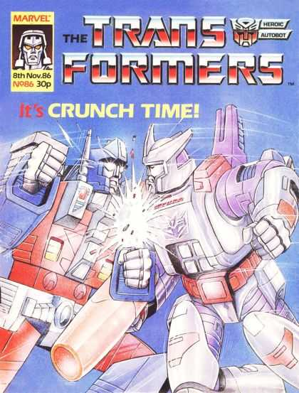 Transformers (UK) 86 - Marvel - November - Its Crunch Time - Robots - Heroic Autobot