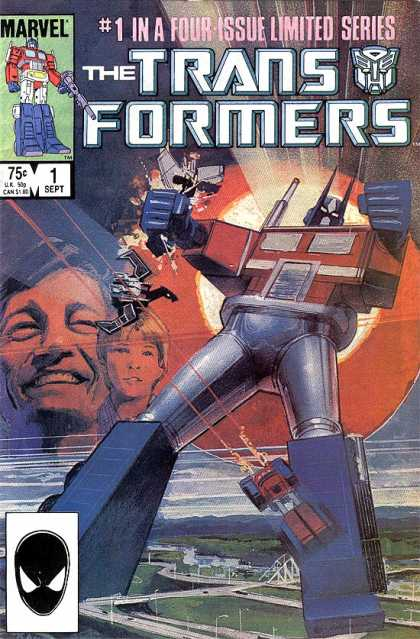 Transformers 1 - Marvel Comics - Modern Age - Made Into Movies - Robots - Sci-fi Stories - Bill Sienkiewicz