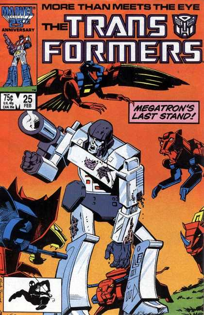 Transformers 25 - Robots In Disguise - Nostalgic Comics - Marvel 25th - Megatron - Marvel Anniversary Edition