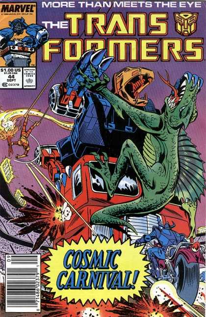 Transformers 44 - Lizard - Dinosaur - Cosmic - Carnival - Meet The Eye - Frank Springer