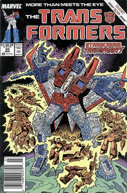 Transformers 50 - Marvel - Giant - Starscream - Robot - Comics Code