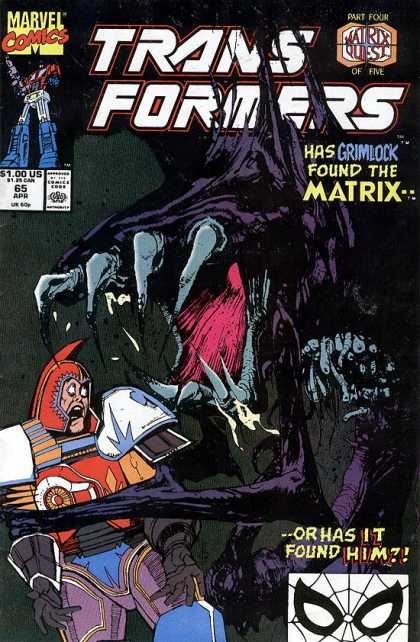 Transformers 65 - Grimlock - Matrix - Teeth - Danger - Fear - Bill Sienkiewicz