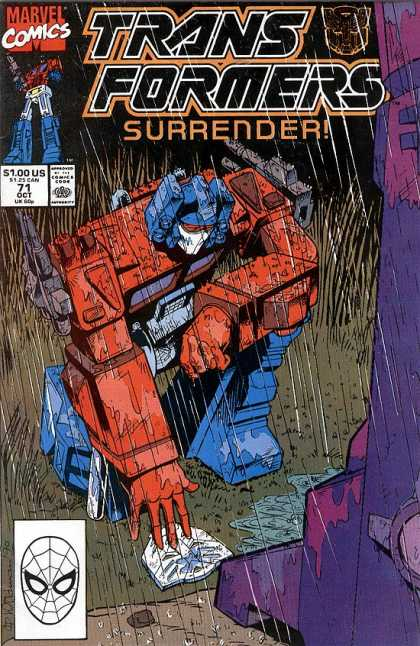 Transformers 71 - Marvel Comics - Surrender - 100us - 125 Can - Oct
