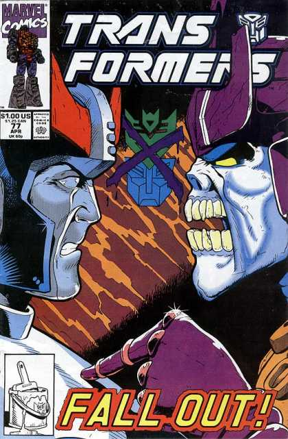 Transformers 77 - Fall - Out - Marvel - Comics - Us