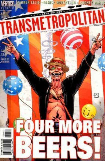 Transmetropolitan 17 - Flag - Four More Beers - Balloons - Warren Ellis - Victory Sign - Dave Gibbons