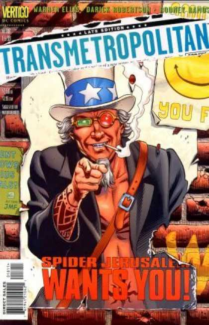 Transmetropolitan 18 - Late Edition - Spider Jerusalem - Wants You - Vertigo - Star Band Hat - Dave Gibbons