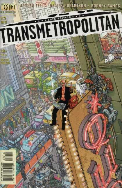 Transmetropolitan 22 - Power Man - Trafic Tower - White Rat - Big People - Pussy Cat - Geof Darrow