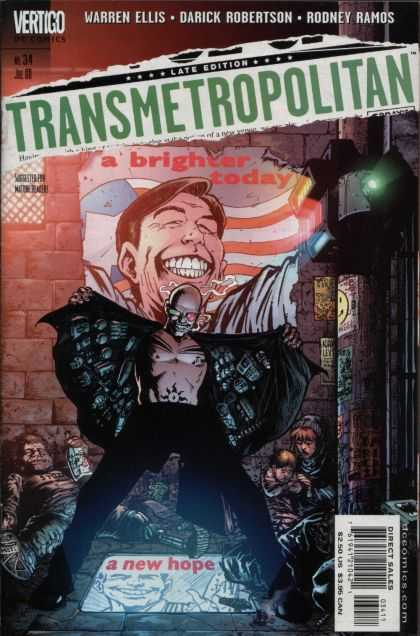 Transmetropolitan 34 - People - Lights - Wall - Bumb - Bottle - Darick Robertson