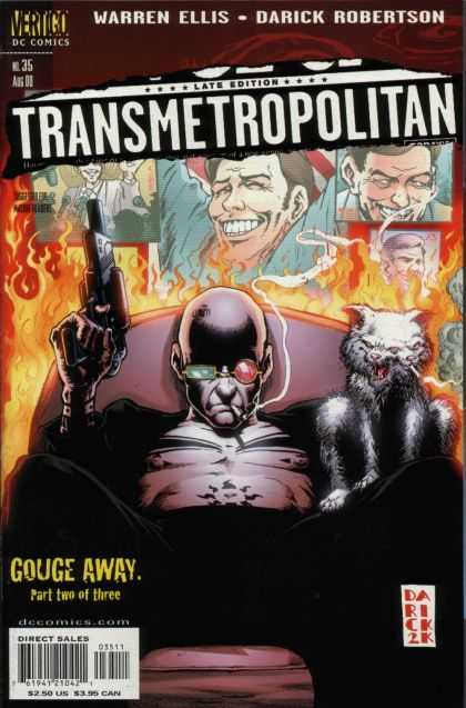 Transmetropolitan 35 - Fire - Smoking - Gun - Two-headed Dog - Couch - Darick Robertson