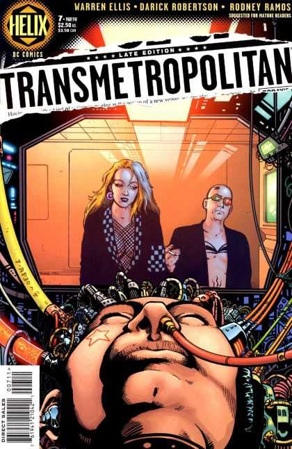 Transmetropolitan 7 - Cables - Woman In Cell - Green And Red Glasses - Wired - Brain Machine - Darick Robertson