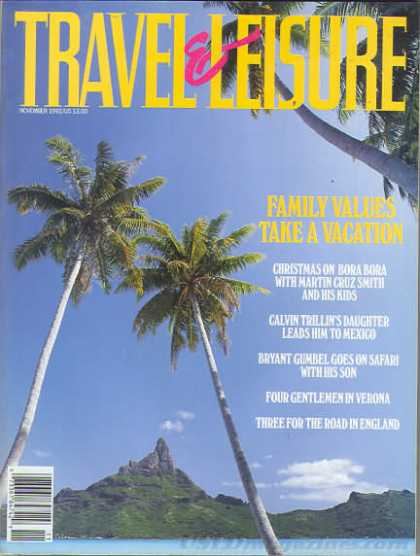 Travel & Leisure - November 1992