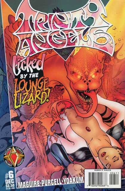 Trinity Angels 6 - Licked By The Lounge Lizard - Tongue - Cleavage - Babe - Beast - Kevin Maguire