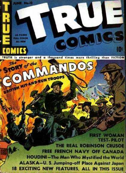 True Comics 13 - People - War - Fight - Fire - Gun