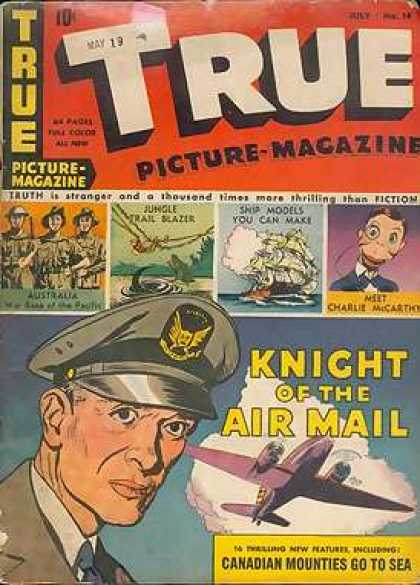 True Comics 14 - Coldier - Airplane - Picture-magazine - Guns - Canadian Mounties Go To Sea