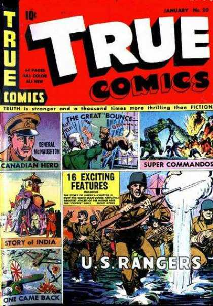 True Comics 20 - Us Rangers - Water - Dog - Airplane - General