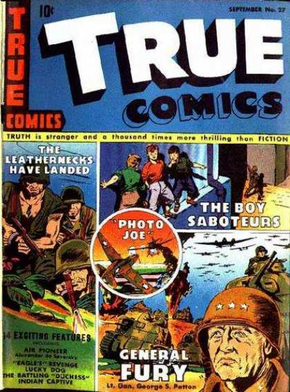 True Comics 27 - Soldiers - Saboteur - General - Tank - Bombers