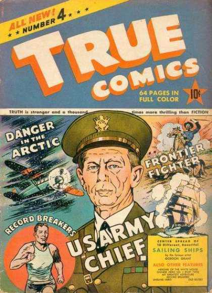 True Comics 4 - Us Army - Runner - Plane - Horse - Ship