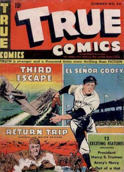 True Comics 44 - American Heros - Winners At War - Home Runs - Battles From Afar And Home - Winning Big