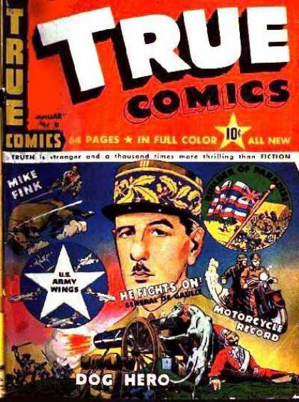 True Comics 8 - True Comics - Mike Fink - Army - Dog - Hero