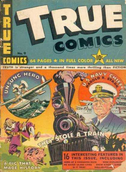 True Comics 9 - Entertainment - America - Hero - Exciting - Kids