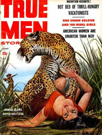 True Men Stories - 8/1958