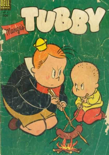 Tubby 5 - Dell Comics - Yellow Hat - Hot Dog - Campfire - Sticks