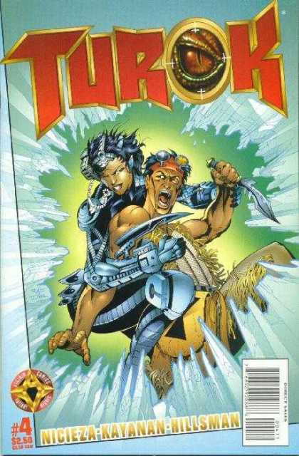 Turok (1998) 4 - Dinosaur - Knife - Woman - Warrior - Hunter