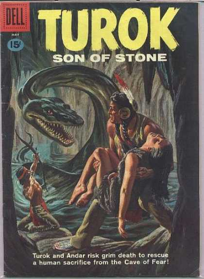 Turok: Son of Stone 23 - Dell - Bow - Indian - Cave - Woman