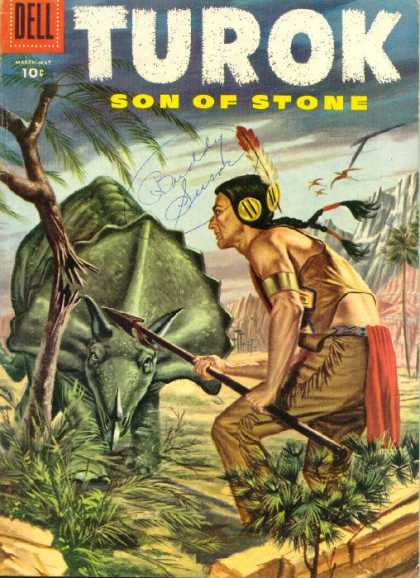 Turok: Son of Stone 3 - Dell - Dinosaur - Indian - Spear - Rocks