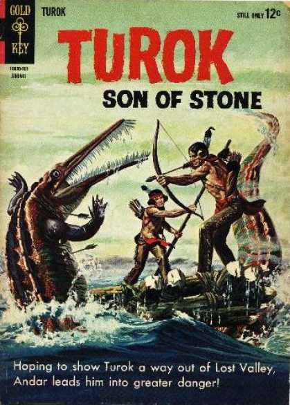 Turok: Son of Stone 37 - Dinosaur - Hunter - Son Of Stone - Gold Key - Turok