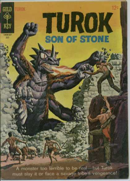 Turok: Son of Stone 46 - Fire Breathing Monster - Men - Broken Wall - Savage Tribe - Spears