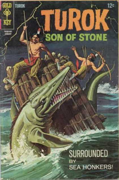 Turok: Son of Stone 60 - The Fisherman - The Big Fish - Two Indians - Gold Key - Surrounded